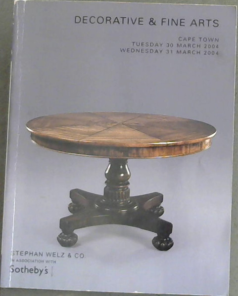 Image for Stephan  Welz  &  Co. Decorative  &  Fine  Arts  Cape  Town  30  &  31  March  2004