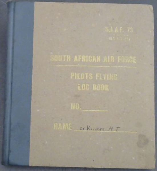 Image for South African Air Force: Pilots Flying Log Book - 1948