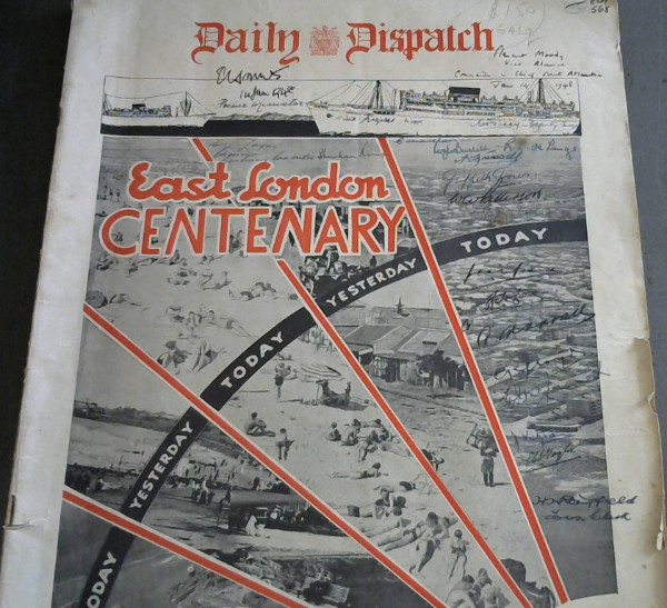 Image for Daily Dispatch : East London Centenary 1848-1948