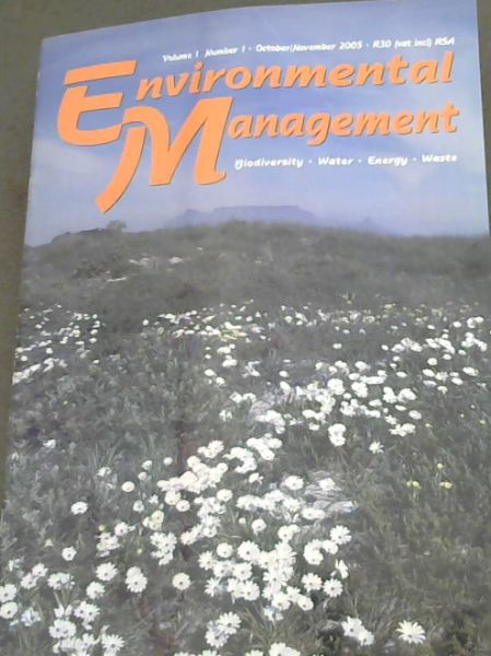 Image for Environmental Management: Biodiversity, Water, Energy, Waste, (Volume 1, Number 1 only, October/November 2005))