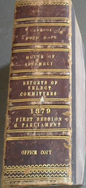 Image for Cape of Good Hope House of Assembly Reports of Select Committees