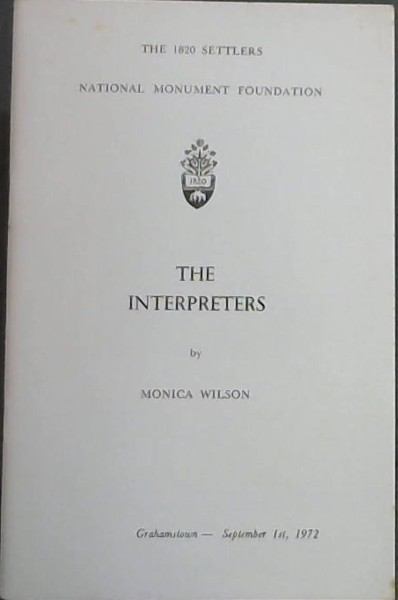 Image for THE INTERPRETERS - The 1820 settlers National Monument Foundation