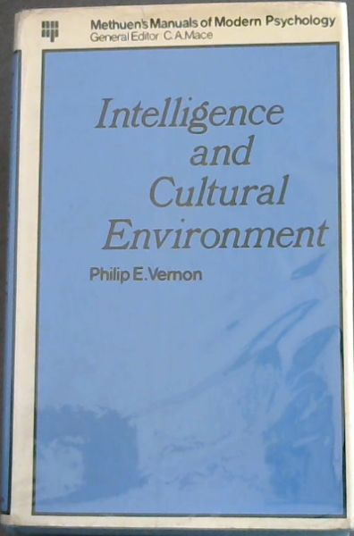 Image for Intelligence and Cultural Enviroment