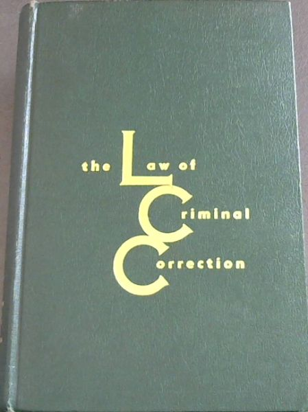 Image for THE LAW OF CRIMINAL CORRECTION