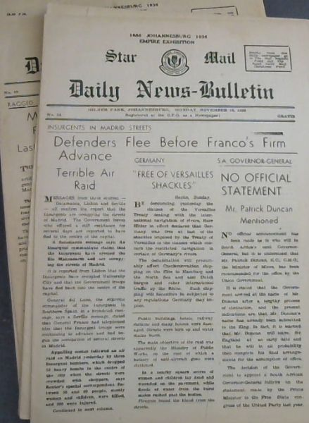 Image for ORIGINAL - 6 COPIES OF STAR MAIL DAILY NEWS -BULLETIN