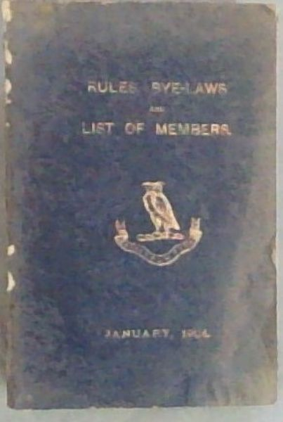 Image for ATHENAEUM CLUB. Includes RULES, BYE LAWS, AND LIST OF MEMBERS, JANUARY,1904.