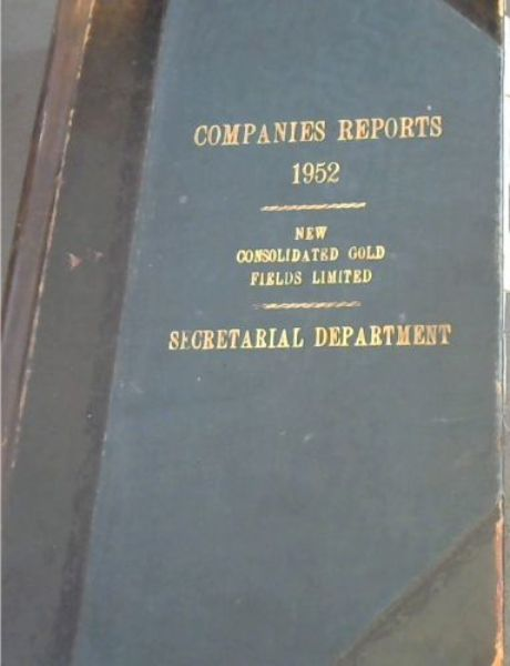 Image for Companies Reports 1952 - New Consolidated Gold Fields Limited