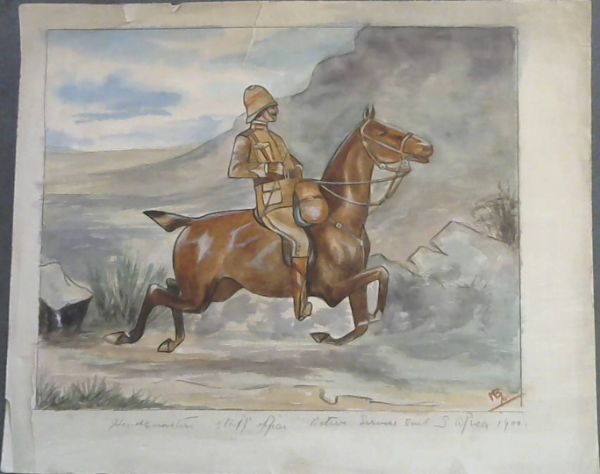 Image for Original Watercolour Painting of Anglo-Boer War Officer