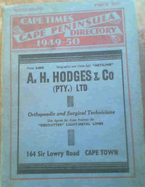 Image for Cape Times Cape Peninsula Directory 1949-50