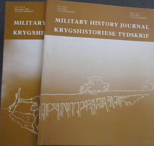 Image for Military History Journal / Krygshistoriese Tydskrif. Volume 7 No. 5 & 6. June & December 1988. 2 volumes