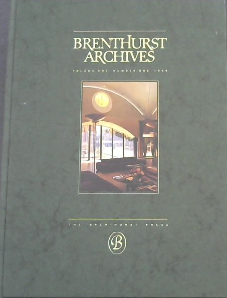 Image for Brenthurst Archives : Volume 1 Number 1 & 2.