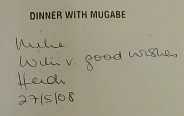 Image for Dinner with Mugabe: The Untold Story of a Freedom Fighter who Became a Tyrant