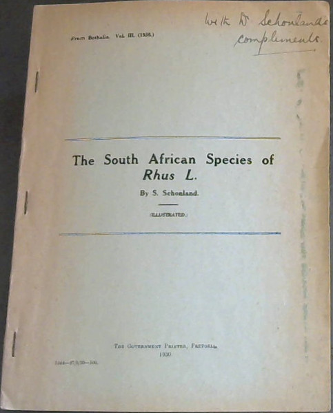 Image for The South African Species of Rhus L. (from Bothalia. Vol III (1930))