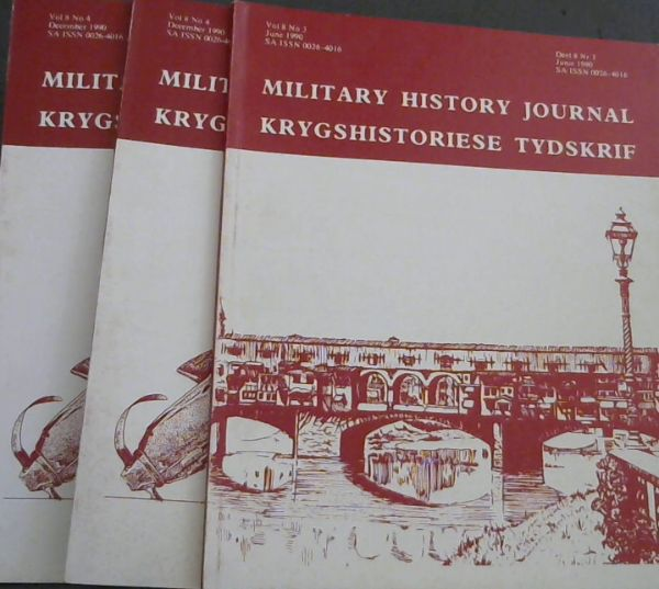 Image for Military History Journal / Krygshistoriese Tydskrif. Volume 8 No. 3 & 4. June & December 1990. 2 volumes
