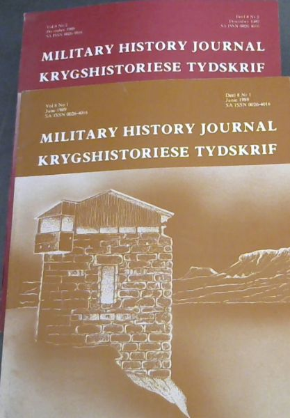 Image for Military History Journal / Krygshistoriese Tydskrif. Volume 8 No. 1 & 2. June & December 1989. 2 volumes