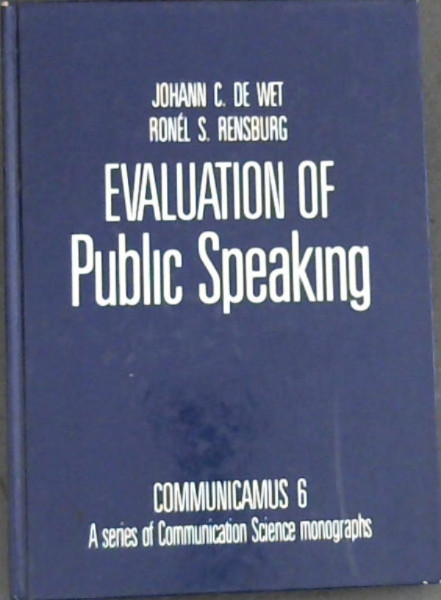 Image for Evaluation of Public Speaking (Communicamus 6)