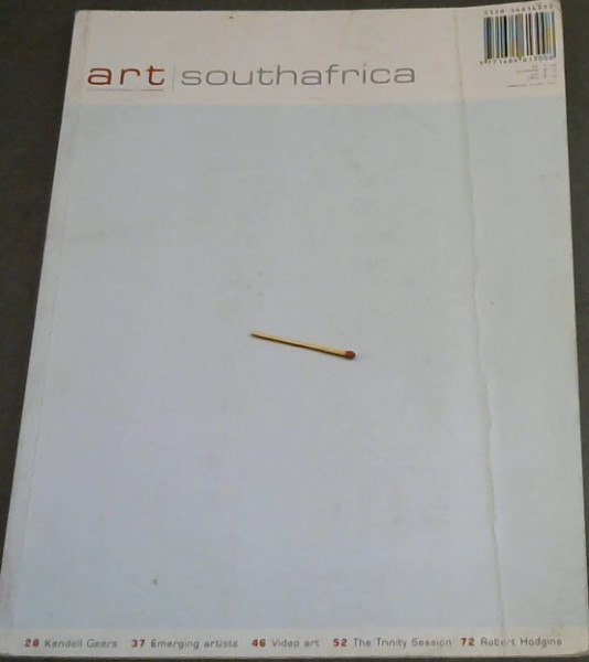 Image for Art South Africa - Vol 01 - Issue 03 - Autumn  2003