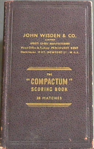 Image for Compactum Scoring Book: Australian Tour of South Africa 1949/ 1950 - 2 'vols'