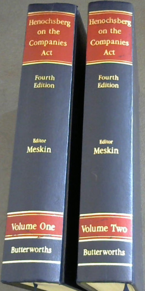Image for Henochsberg on the Companies Act - 2 Volumes