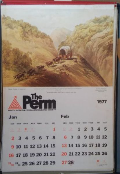 Image for Gift Calendars from South African Permanent Building Society 1952-1968, 1976, 1977