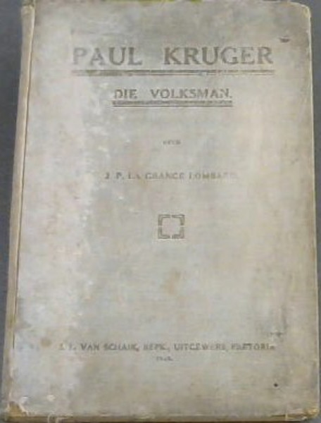 Image for Paul Kruger Die Volksman