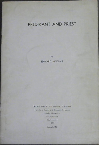 Image for Predikant and Priest