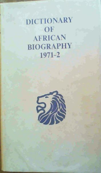 Image for Dictionary of African Biography 1971 - 2