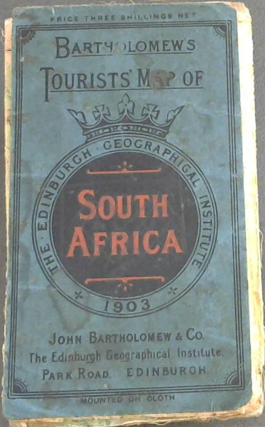 Image for Bartholomew's Tourist Map of South Africa: 1: 2500 000
