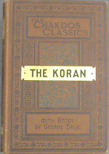 Image for The  Koran  Commonly  Called  The  Alkoran  Of  Mohammed