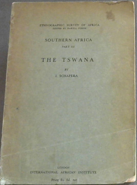Image for Ethnographic Survey of Africa:  Southern Africa: The Tswana