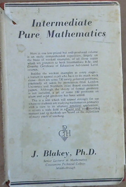 Image for Intermediate Pure Mathematics