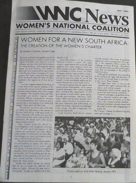 Image for WNC News : Women's National Coalition - May 1994
