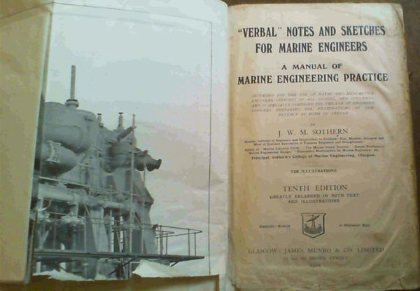 Image for Verbal Notes and Sketches for Marine Engineers - A Manual of Marine Engineering Practice