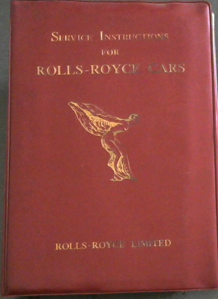 Image for Service  Instructions  For  Rolls-Royce  Cars