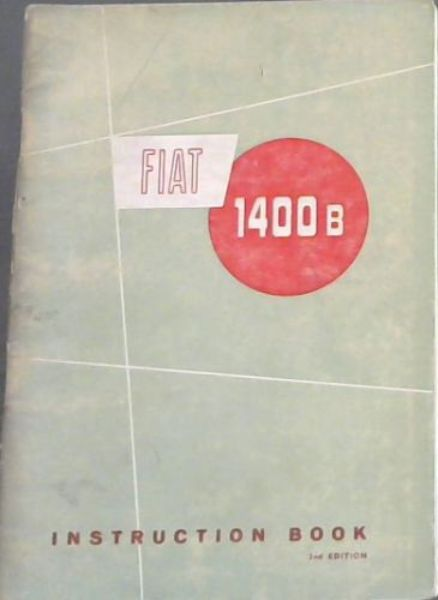 Image for Fiat 1400B. instruction Book