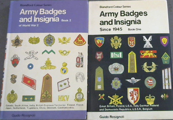 Army Badges and Insignia - 2 volumes (Blandford Colour Series)