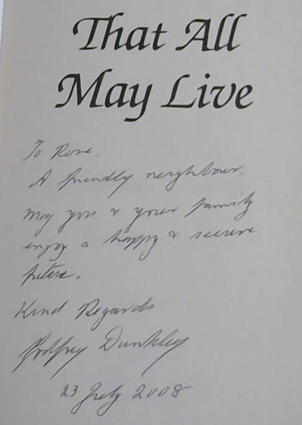 Image for That All May Live: Guidelines Towards a Better Society