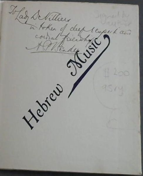 Image for Hebrew Music : A South African College Extension Lecture