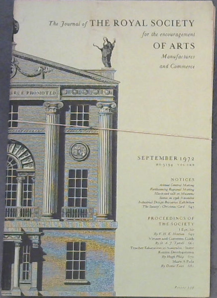 Image for The Journal of the Royal Society for the encouragement of Arts, Manufactures and Commerce - June, August, September 1972