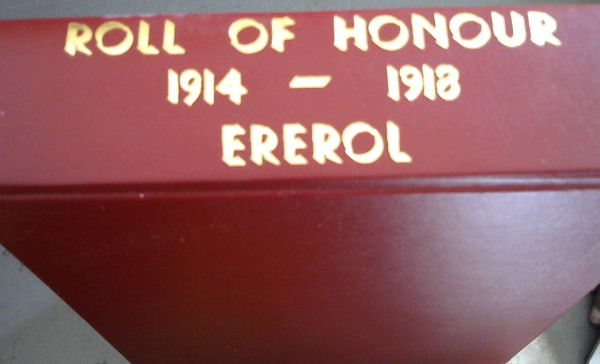 Image for Roll of Honour 1914-1918 Ererol