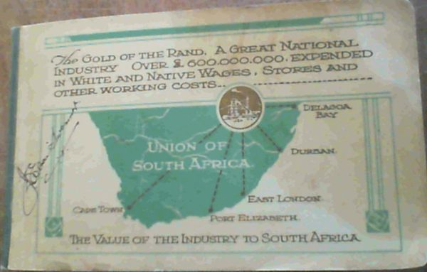 Image for The Gold Of The Rand; A Great National Industry [ 1887-1923]