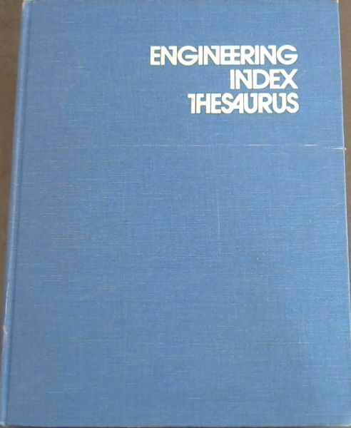 Image for Engineering Index thesaurus