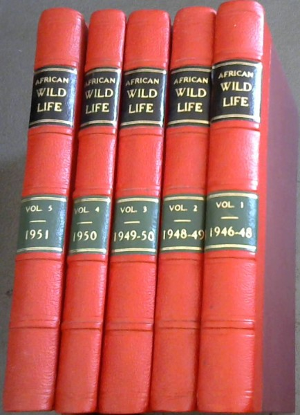 Image for African Wild Life: Official Journal of the Wild Life Protection Society of South Africa - complete issues 1946-1970 - 24 volumes