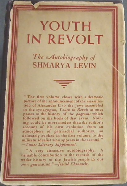Image for YOUTH IN REVOLT - The Autobiography of Shmarya Levin