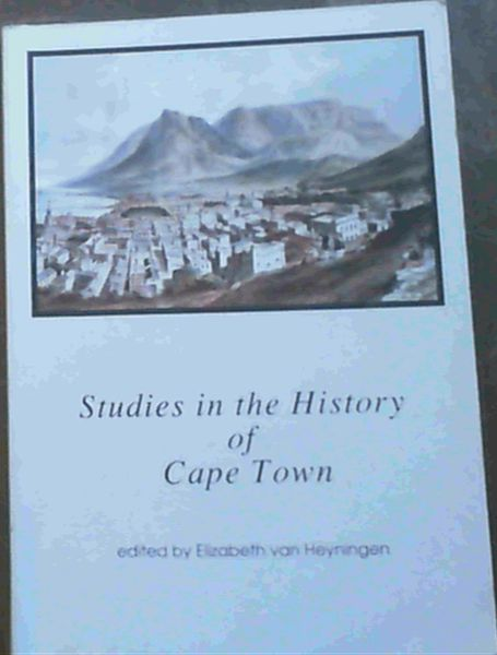 Image for Studies in the History of Cape Town Vol.7 Only