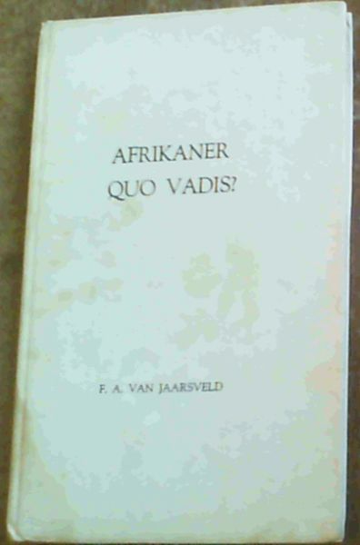 Image for Afrikaner Quo Vadis?