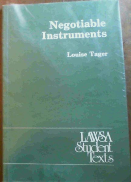 Image for Negotiable Instruments (LAWSA Student Text)