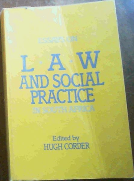Image for Essays on Law and Social Practice in South Africa