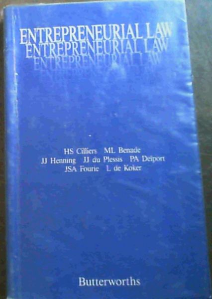 Image for Entrepreneurial law