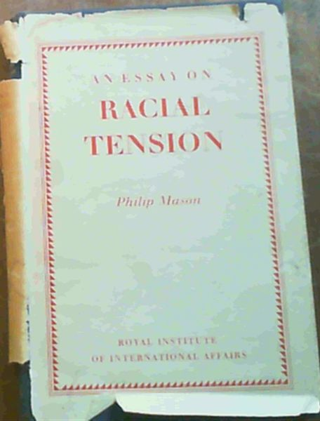 Image for An Essay on Racial Tension